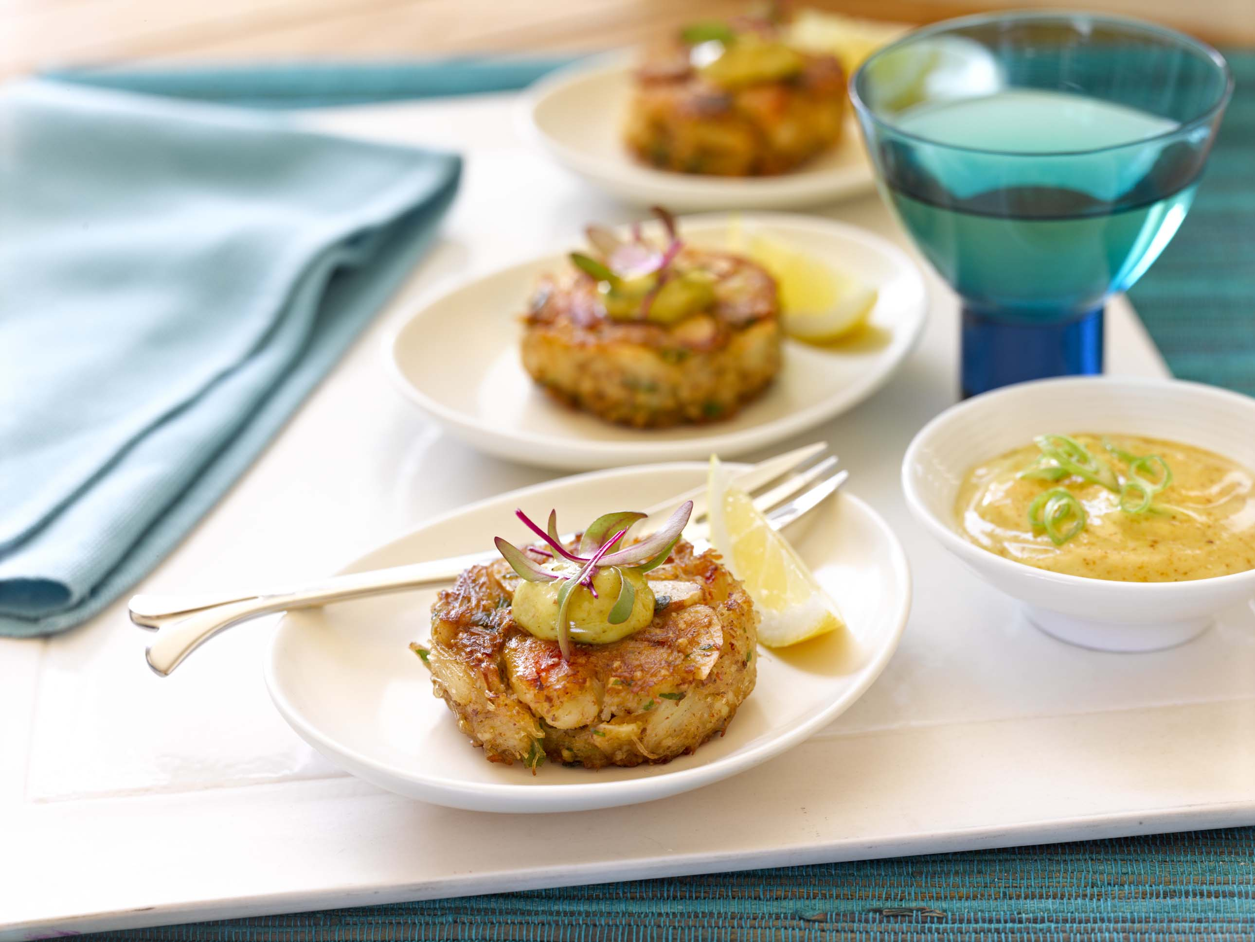 Gluten Free Chesapeake Crab Cakes with Almond Aioli