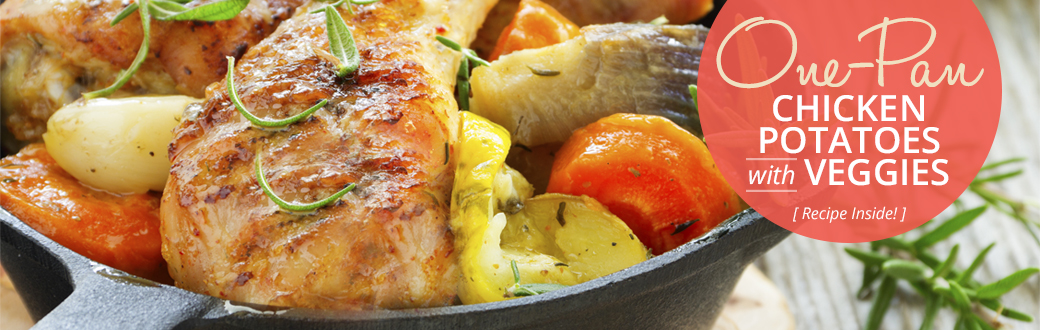 Healthy Recipe: One-Pan Chicken, Potatoes, and Veggies